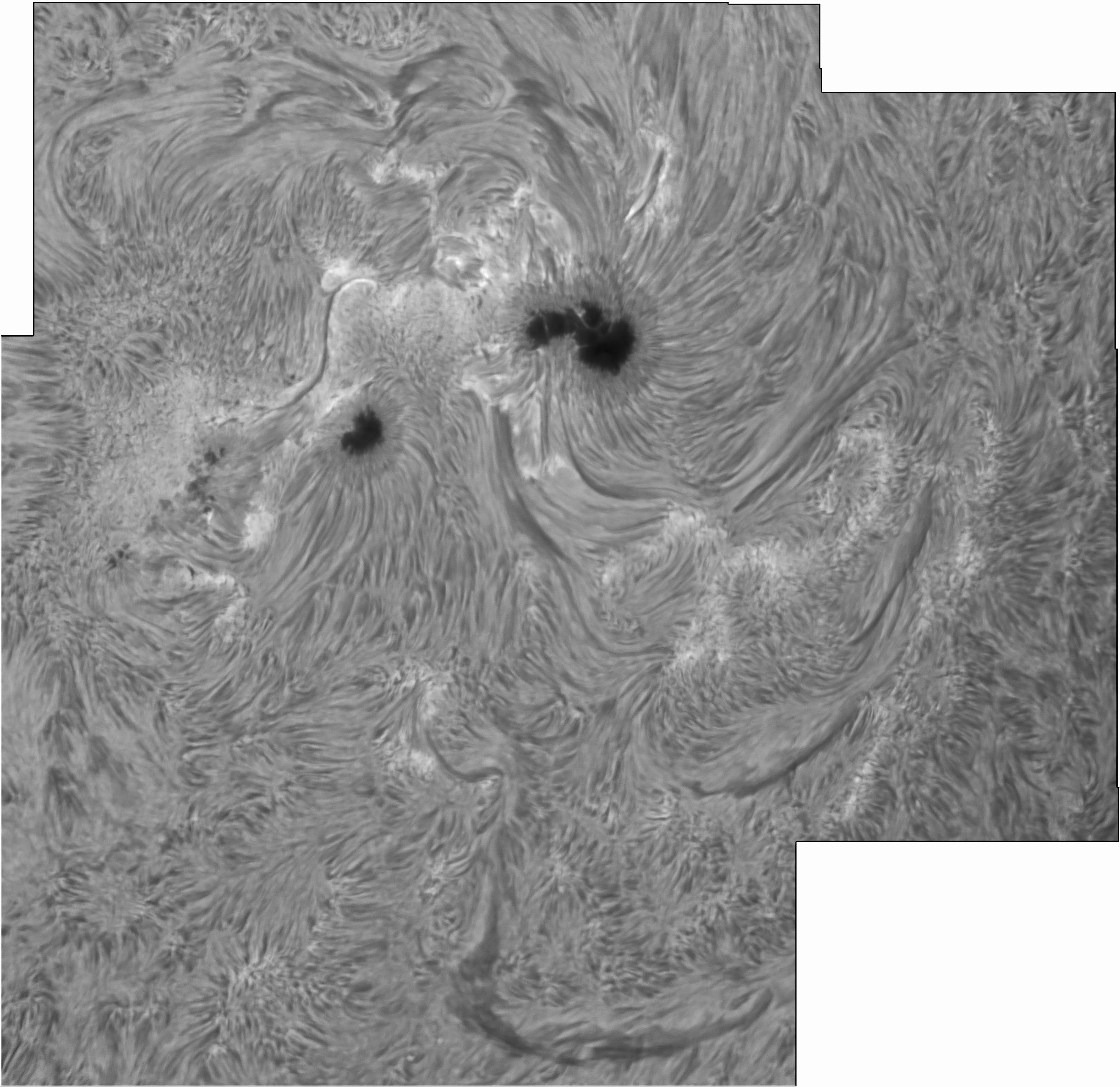 Etage Zwo: [Soleil] Haute Résolution Solaire : 6m De Focale, 203mm D
